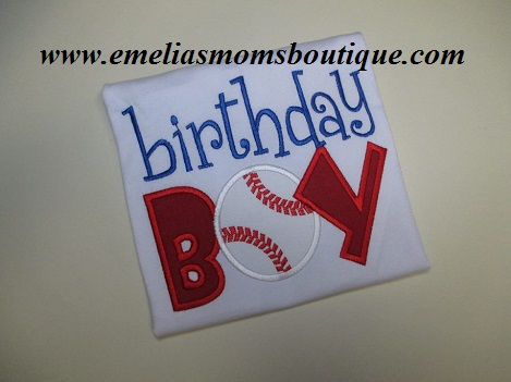 Birthday Boy Baseball