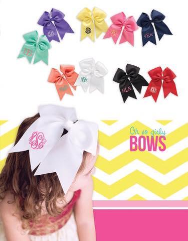 Monogram bows