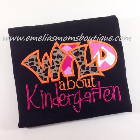 Wild about Kindergarten, w/Leopard ( can do any grade)
