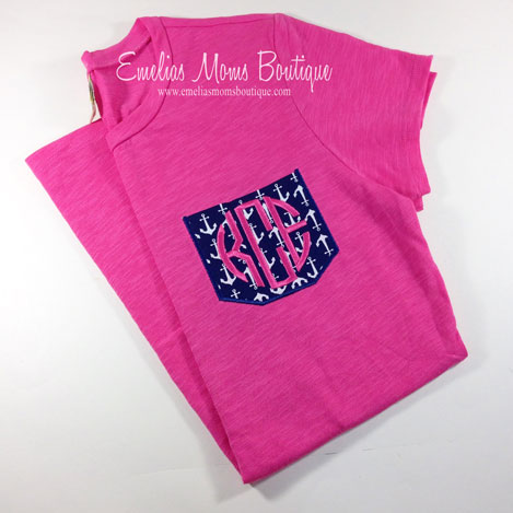 Anchor Monogram Pocket