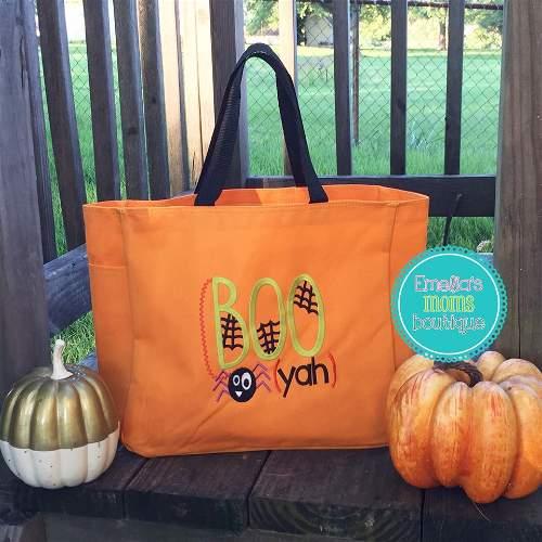 BOO Yah Halloween Candy Bag