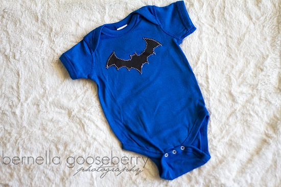 Blue Batman Onesie