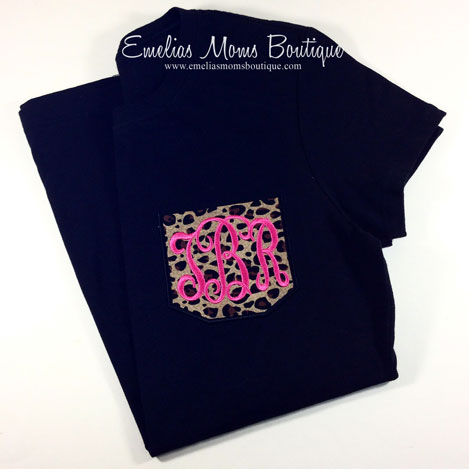 Cheetah Monogram Pocket