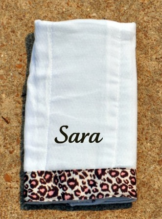 Cheetah Print Burp Cloth