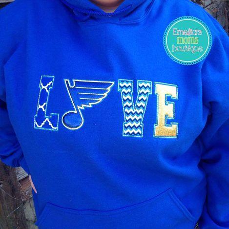 LOVE Blues Hoodie