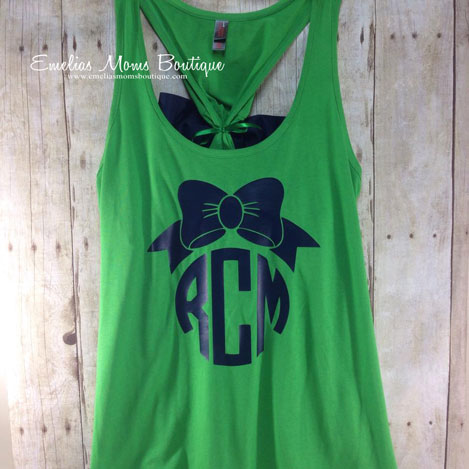Bow Back Monogram Tank