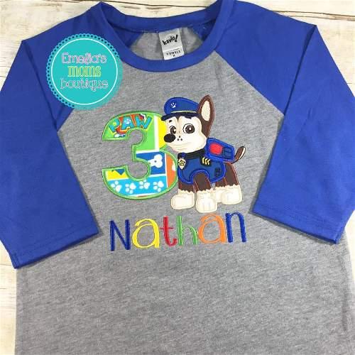 Chase Raglan Birthday Shirt