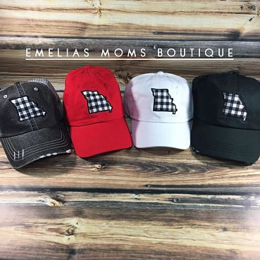 White Buffalo Check Hats