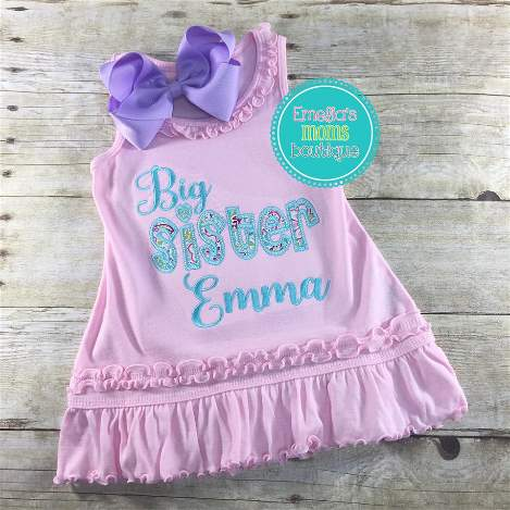 Floral Big Sister Dress or Shirt