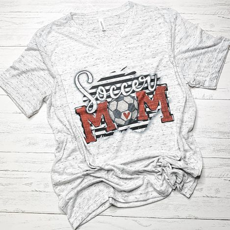BW Stripes Soccer Mom