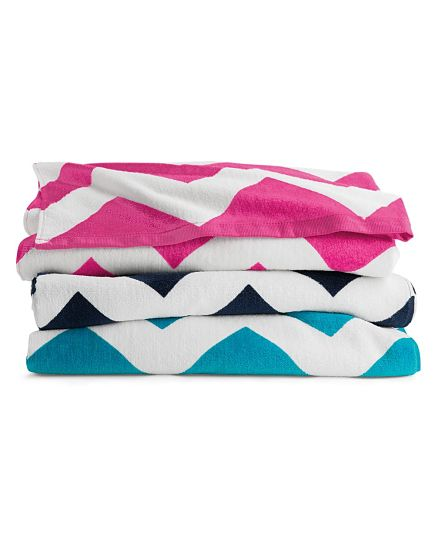 Chevron Beach Towels