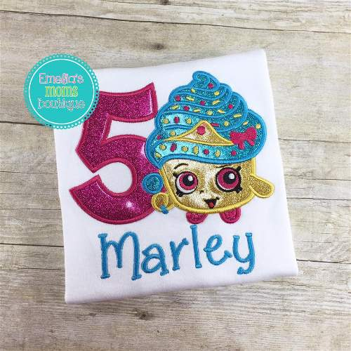 Cupcake Shopkins Birthday Shirt