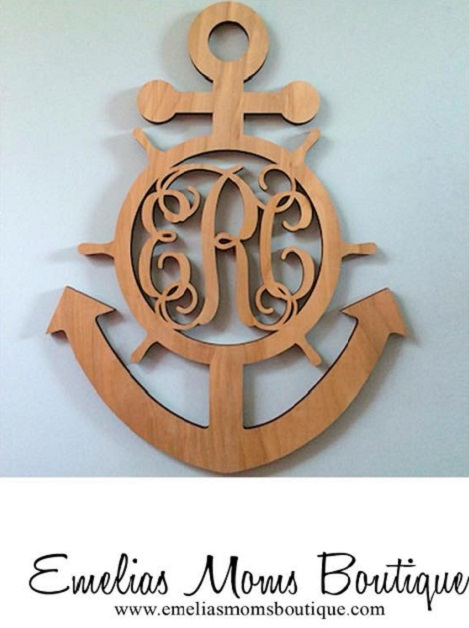 Anchor Wood Monograms