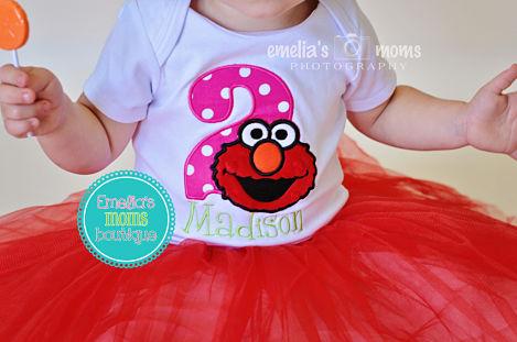 Elmo Sesame Street Birthday Top