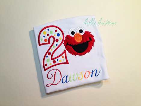 Sesame Street Elmo Rainbow Birthday Shirt