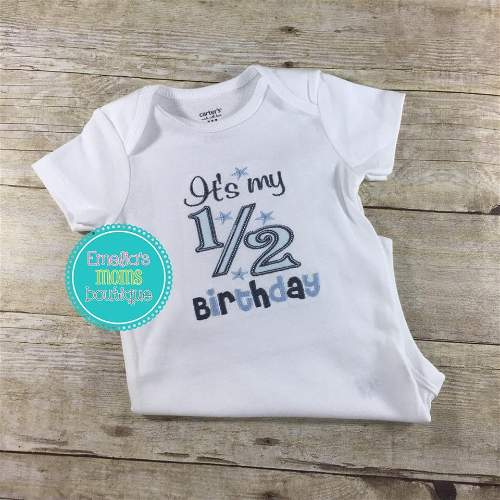 Happy 1 2 Birthday Shirt For 6 Month Half