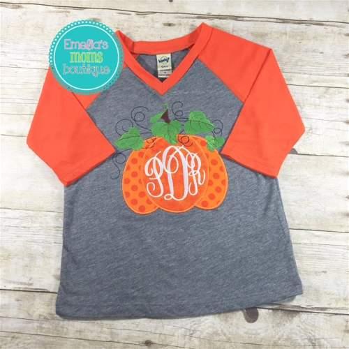 Monogram Pumpkin Gray/Orange