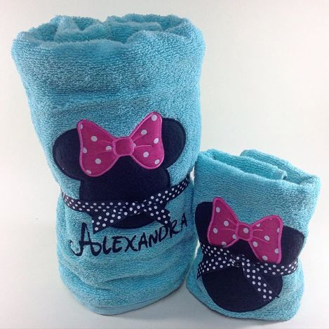 Minnie bow hand towel set