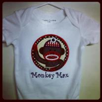 Personalized sock monkey shirt