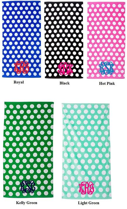 Polka Dot Beach Towels