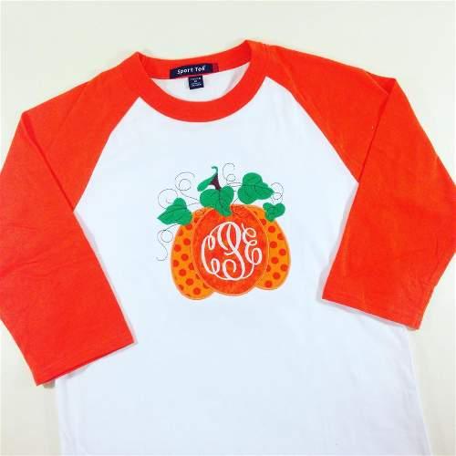 Pumpkin Raglan Monogram