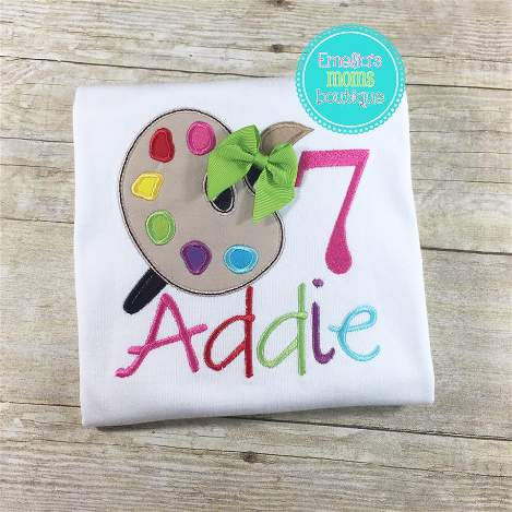 Paint Palette Birthday Shirt