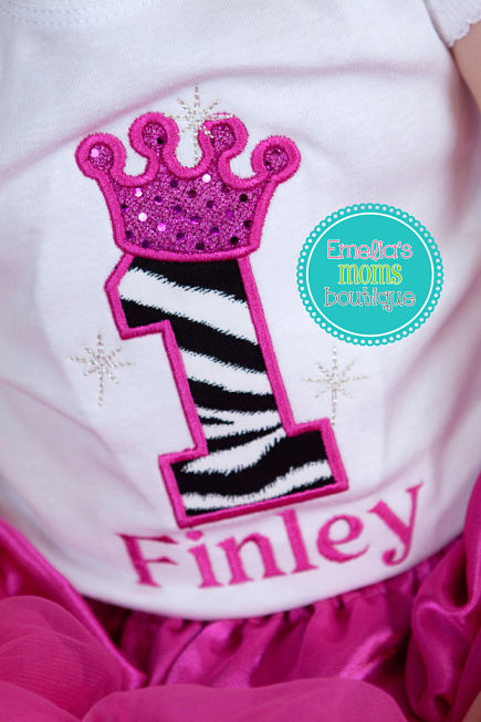 Princess Zebra Birthday
